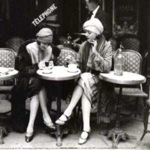 Fransyskor på Café
